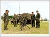 Luyện tập bảo đảm thông tin phòng, chống thiên tai và tìm kiếm cứu nạn ở Lữ đoàn 134