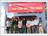 Trao tặng Nhà tình nghĩa cho gia đình ông Nguyễn Văn Phuông và Cao Thanh Dương, tại xã Bình Thắng, huyện Bình Đại, tỉnh Bến Tre