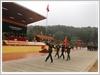 Duyệt đội ngũ trong Lễ ra quân huấn luyện của Lữ đoàn Pháo binh 454.