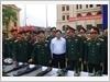 Tham quan mô hình, học cụ huấn luyện của lực lượng vũ trang tỉnh Hưng Yên.