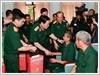 Đại tướng Ngô Xuân Lịch, Bộ trưởng Bộ Quốc phòng thăm, tặng quà các thương binh, bệnh binh tại Trung tâm Điều dưỡng thương binh Lạng Giang, Bắc Giang