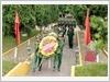 Đoàn công tác Tổng cục Kỹ thuật dâng hoa tri ân các anh hùng liệt sĩ tại Nghĩa trang liệt sĩ kho K854 (huyện Lạc Sơn, tỉnh Hòa Bình)