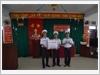 Thủ trưởng Lữ đoàn 146, Vùng 4 Hải quân trao quà Tết của Bộ Quốc phòng cho cán bộ, chiến sĩ đảo Đá Nam