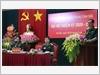 Thiếu tướng Đỗ Hồng Lâm thay mặt Đoàn Chủ tịch trình bày Báo cáo chính trị tại Đại hội.