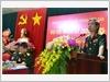 Thượng tướng Đỗ Căn, Phó Chủ nhiệm Tổng cục Chính trị, Ủy viên  Ban Thường vụ Đảng ủy Cơ quan Tổng cục Chính trị phát biểu chỉ đạo Đại hội.