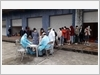 Khu cách ly CentreWay - phường Trà Cổ, kiểm tra y tế cho công dân trước khi rời khỏi khu tập trung