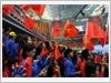 越南国旗迎风飘扬(图片来源: 人民军队报)